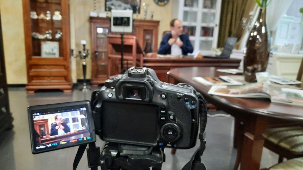 Подготовка съёмки видеовизитки